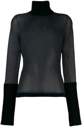 Calvin Klein sheer roll neck sweater