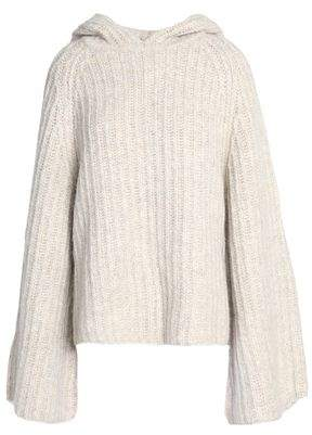 See by Chloe Ribbed-Knit Hooded Sweater