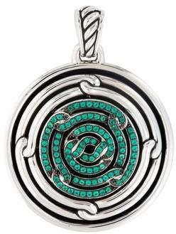 David Yurman Green Onyx Labyrinth Enhancer