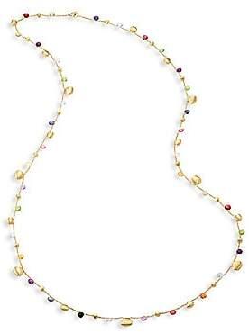 "Marco Bicego Paradise Semi-Precious Multi-Stone Graduated Long Necklace/36"""