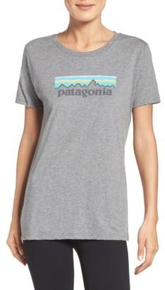Women's Patagonia P-6 Organic Cotton Tee $35 thestylecure.com