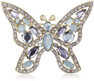 Napier Giftables Boxed Silver-Tone and Blue Purple Butterfly Pin