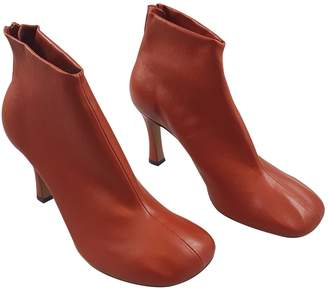 Celine Red Leather Ankle boots