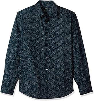 Theory Men's Long Sleeve Printed Dress Shirt