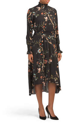 Printed Crepe Chiffon Maxi Dress