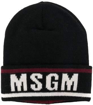 MSGM logo beanie hat