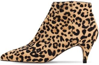 Steve Madden 60mm Leopard Print Ponyskin Leather Boot