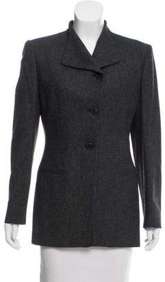 Giorgio Armani Tweed Virgin Wool Blazer