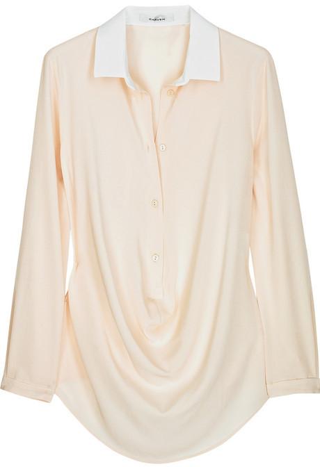 Carven Loose-fit crepe shirt