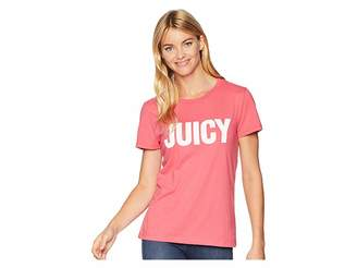 Juicy Couture Track Juicy Gothic Studs Short Sleeve Tee Women's T Shirt