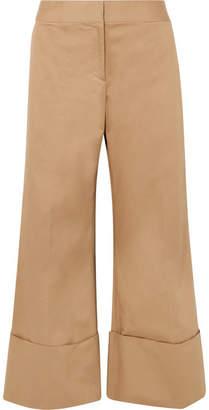 Monse Cropped Cotton-blend Gabardine Wide-leg Pants - Sand