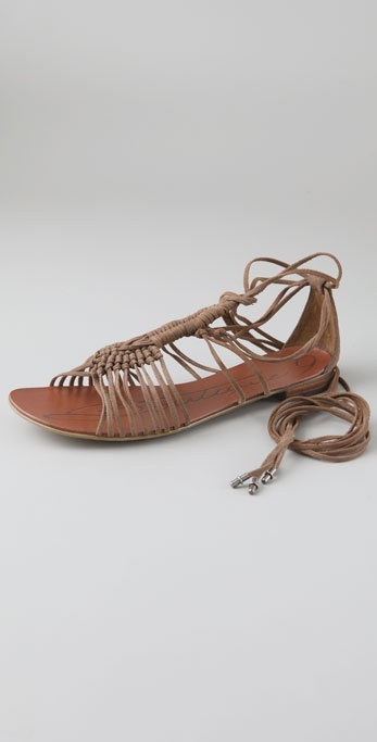 Boutique 9 Pye Macrame Suede Flat Sandals