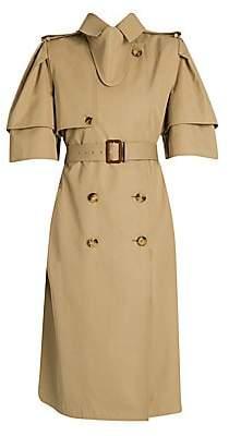 Alexander McQueen Women's Tulip Sleeve Trench Coat