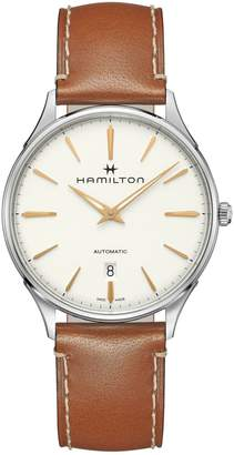 Hamilton Jazzmaster Stainless Steel Automatic Leather-Strap Watch