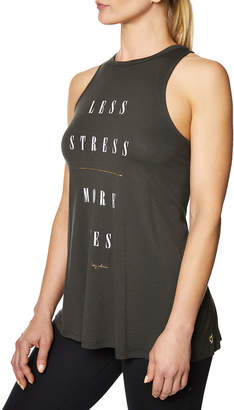 Betsey Johnson Less Stress Graphic Swing Tank