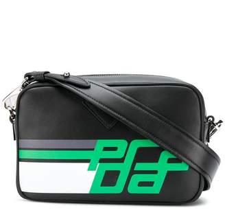 Prada printed logo crossbody bag