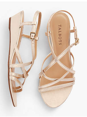 Talbots Capri Leather Sandals - Metallic