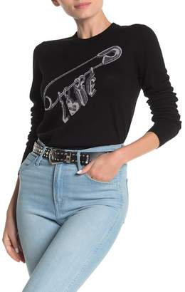 Love Moschino Maglia Intarsia Wool Blend Sweater