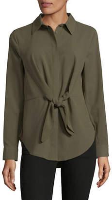 INC International Concepts Tie Front Button-Down Shirt