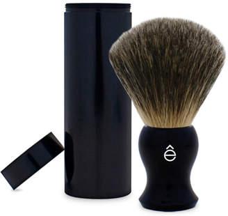 eShave e-Shave Fine Badger Travel Shaving Brush with Canister - Black