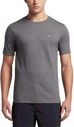 Hurley New Men's Icon Dri-Fit Ss Tee Crew Neck Cotton Polyester Grey