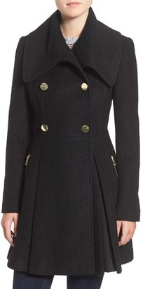 GUESS Envelope Collar Double Breasted Coat (Regular & Petite) $240 thestylecure.com
