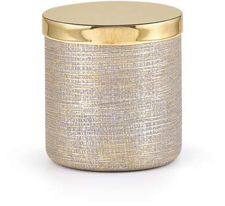 Labrazel Woven Metallic Canister with Golden Polished Lid