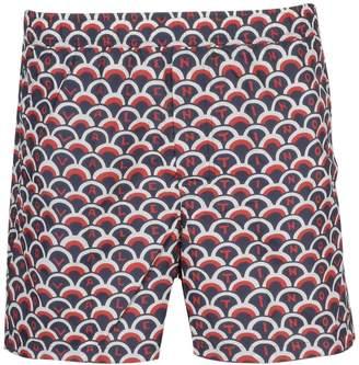 Valentino Scalloped Logo Swim Shorts