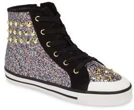 Ash Lita Roe Glittery High Top Sneaker