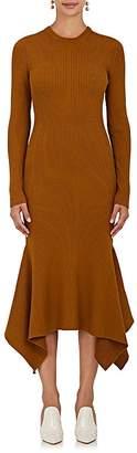 Victoria Beckham Women's Ribbed Wool Midi-Dress