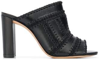 Alexandre Birman stitch detail mule sandals