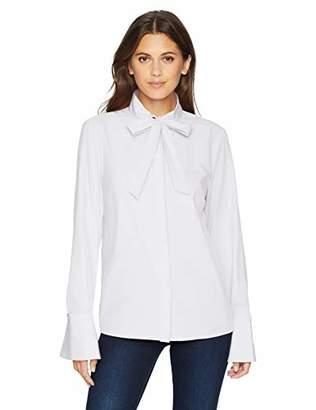 Armani Exchange Women's 6zyc04 Blouse, (White 1100), Large