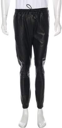 J Brand Leather Jogger Pants