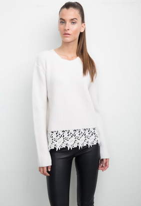 Generation Love Whitney Sweater With Lace Embroidered Hem