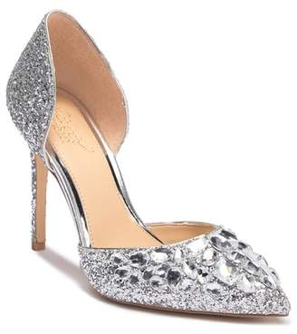 Badgley Mischka Upton Glitter Stiletto Pump