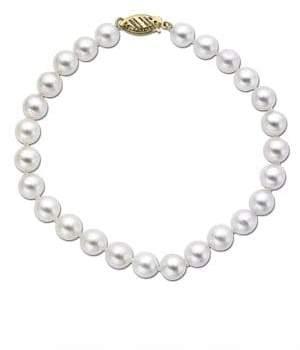 Lord & Taylor 14 Kt. Yellow Gold Akoya Pearl Bracelet