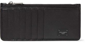 Dolce & Gabbana Pebble-Grain Leather Zipped Cardholder - Men - Black