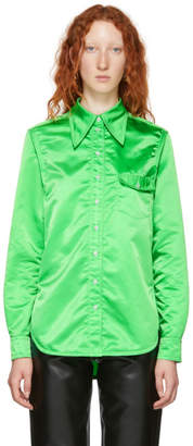 Kwaidan Editions Green Pointed Collar Shirt