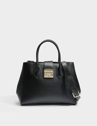 432f6b511d Furla Metropolis Medium Tote Bag in Onyx Ares Leather