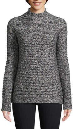 ST. JOHN'S BAY Long Sleeve Mock Neck Pullover Sweater
