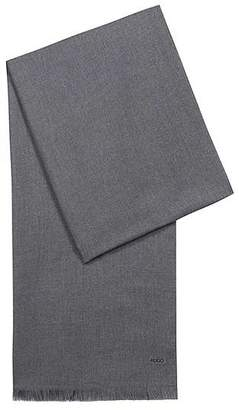 HUGO BOSS Lightweight scarf in mélange fabric