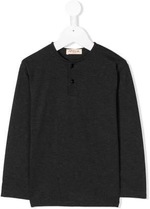 Amelia Milano long-sleeve buttoned T-shirt