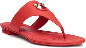 Salvatore Ferragamo Enfola coral leather sandals