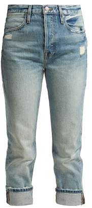Frame Le Pegged Straight Leg Cropped Jeans - Womens - Light Blue