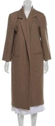 Ganni Notched-Lapel Long Coat