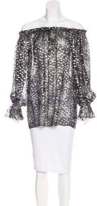 Michael Kors Metallic Silk Top