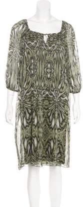 Tibi Silk Midi Dress