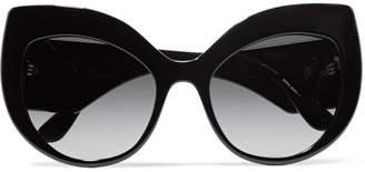 Dolce & Gabbana Crystal-embellished Cat-eye Acetate Sunglasses