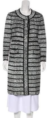 Marc Jacobs Virgin Wool-Blend Lame` Knee-Length Coat w/ Tags