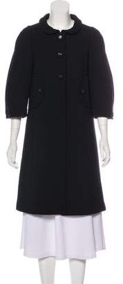 Anya Hindmarch Virgin Wool Knee-Length Coat